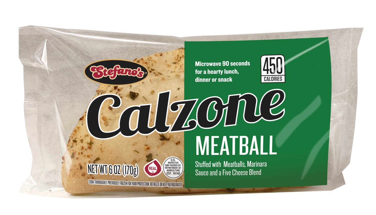 Film Wrapped Calzones - Meatball Calzone