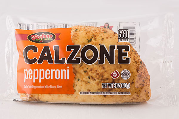 Film Wrapped Calzones - Pepperoni and Cheese Calzone